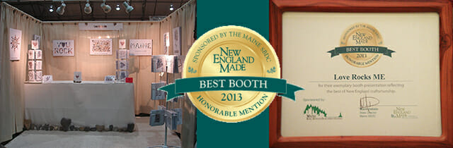 Love Rocks Me™ Receives an Honorable Mention for Best Booth Design